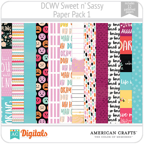 Sweet and Sassy Paper Pack 1