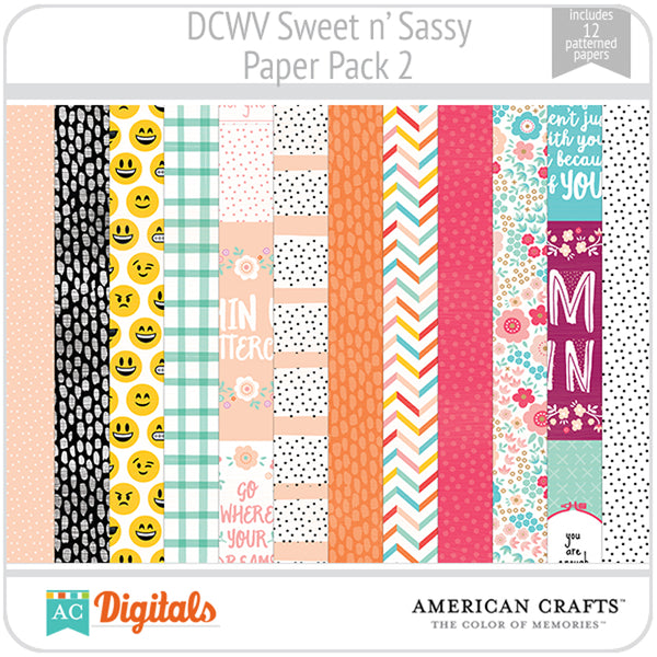 Sweet and Sassy Paper Pack 2