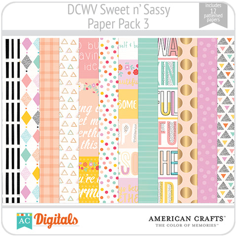 Sweet and Sassy Paper Pack 3