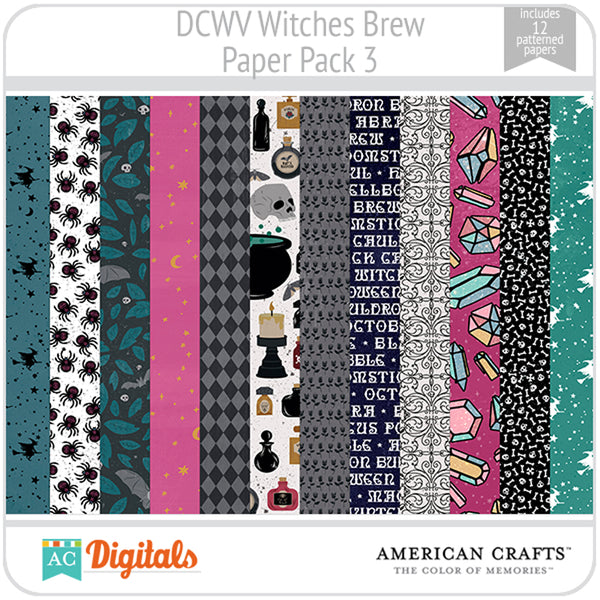 Witches Brew Paper Pack 3