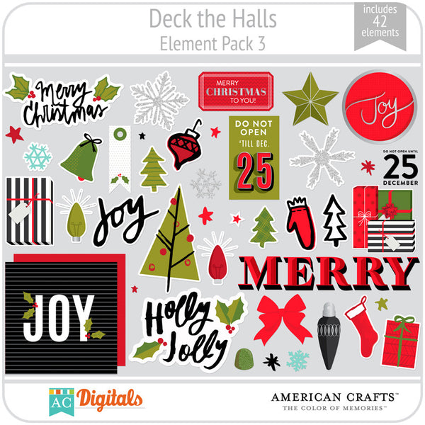 Deck the Halls Element Pack 3