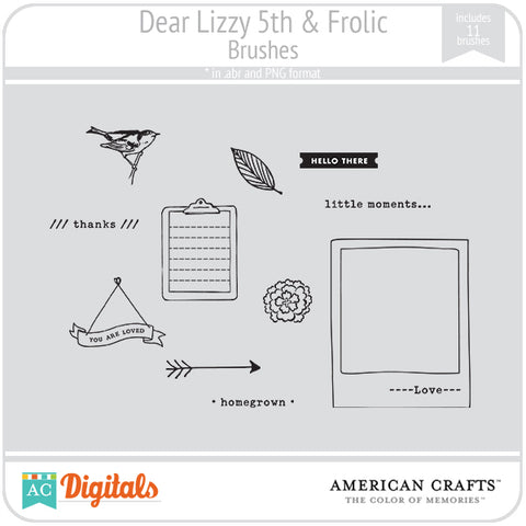 Dear Lizzy 5th & Frolic Brush Set