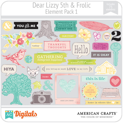 Dear Lizzy 5th & Frolic Element Pack #1