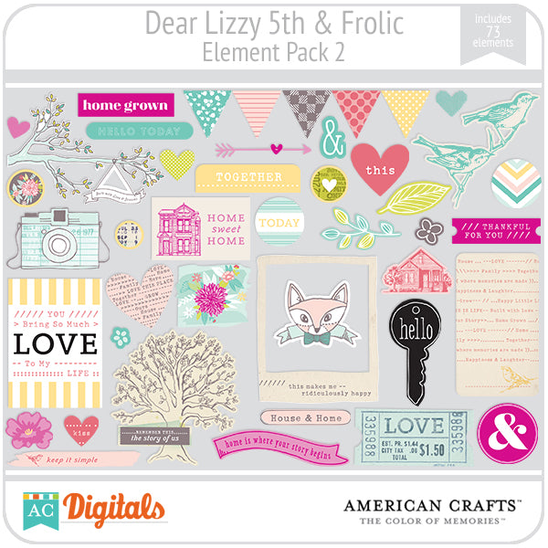 Dear Lizzy 5th & Frolic Element Pack #2