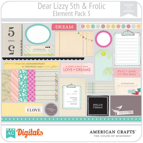 Dear Lizzy 5th & Frolic Element Pack #3