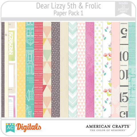 Dear Lizzy 5th & Frolic Paper Pack #1