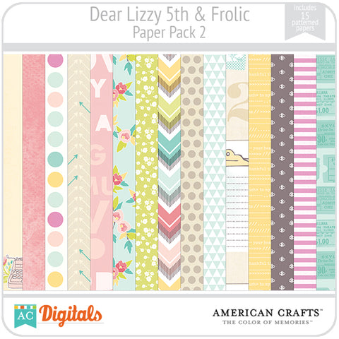 Dear Lizzy 5th & Frolic Paper Pack #2