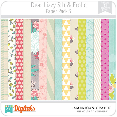Dear Lizzy 5th & Frolic Paper Pack #3