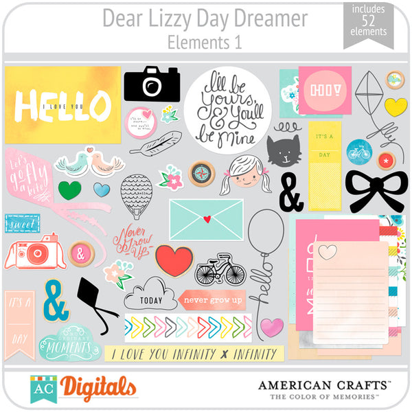 Dear Lizzy Day Dreamer Element Pack 1