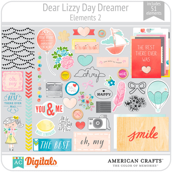 Dear Lizzy Day Dreamer Element Pack 2