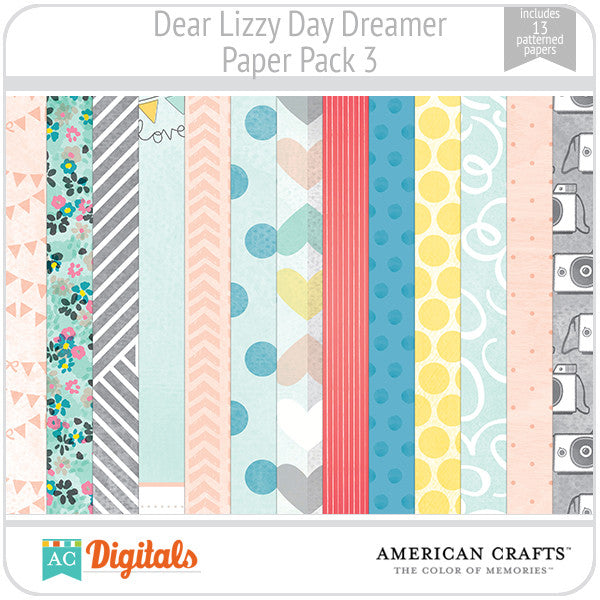 Dear Lizzy Day Dreamer Paper Pack 3