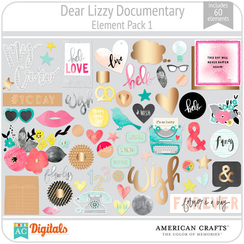 Dear Lizzy Documentary Element Pack #1