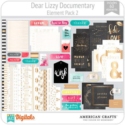 Dear Lizzy Documentary Element Pack #2