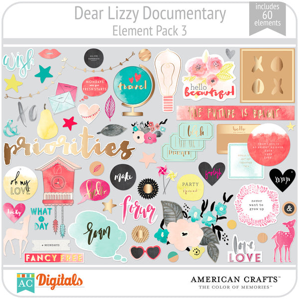 Dear Lizzy Documentary Element Pack #3