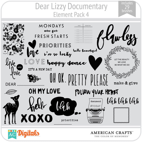 Dear Lizzy Documentary Element Pack #4