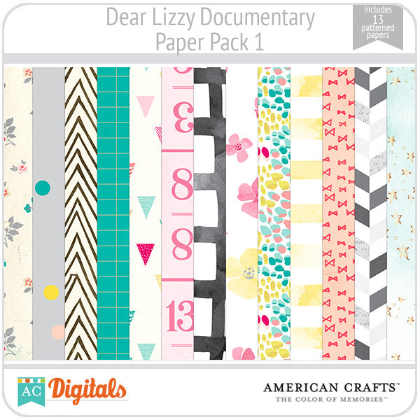 Dear Lizzy Documentary Paper Pack #1