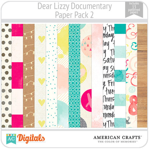 Dear Lizzy Documentary Paper Pack #2