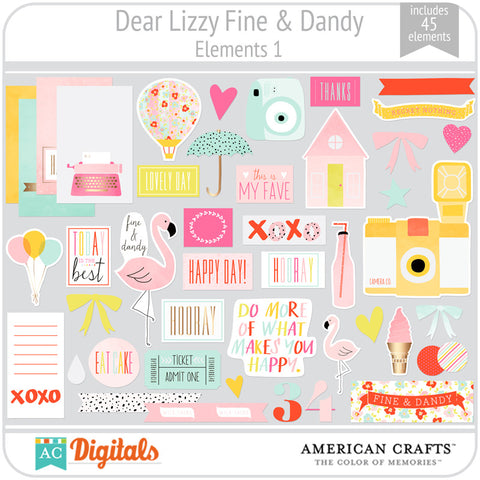Dear Lizzy Fine & Dandy Element Pack 1