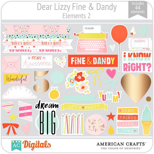 Dear Lizzy Fine & Dandy Element Pack 2