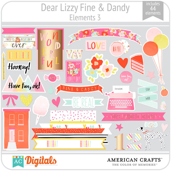 Dear Lizzy Fine & Dandy Element Pack 3