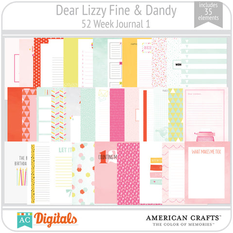 Dear Lizzy Fine & Dandy 52 Week Journaling Cards 1
