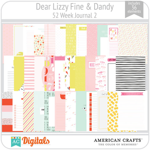 Dear Lizzy Fine & Dandy 52 Week Journaling Cards 2
