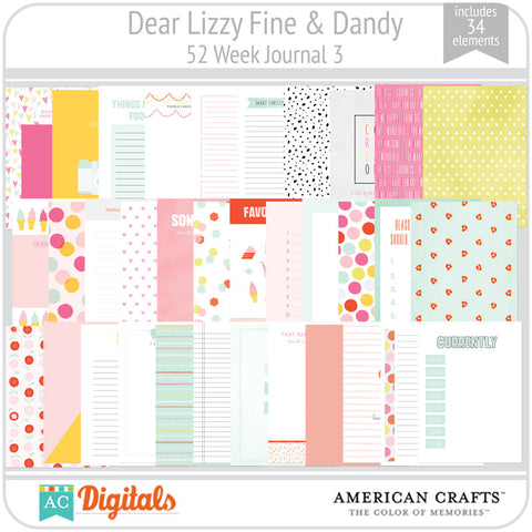 Dear Lizzy Fine & Dandy 52 Week Journaling Cards 3