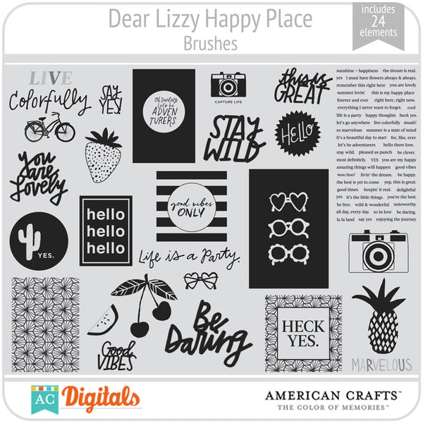 Dear Lizzy Happy Place Brush Set