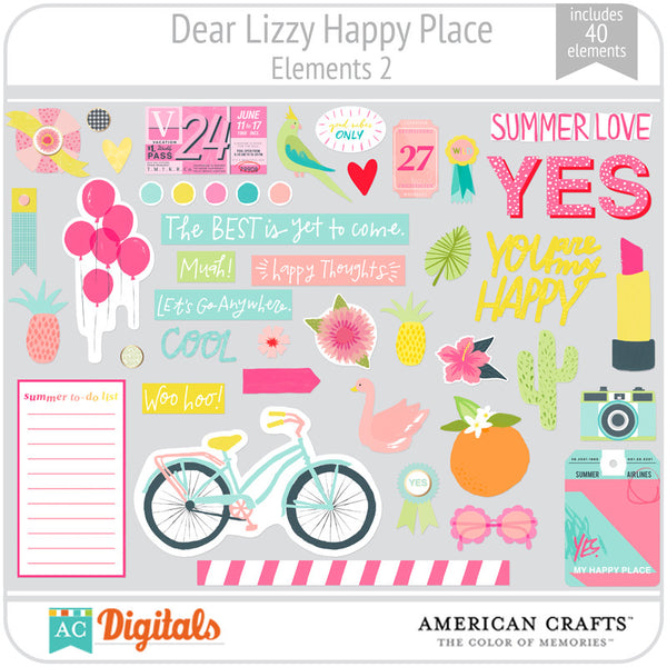 Dear Lizzy Happy Place Element Pack 2