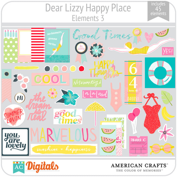 Dear Lizzy Happy Place Element Pack 3