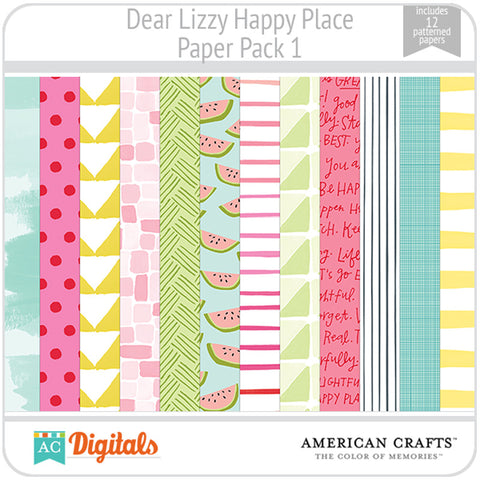Dear Lizzy Happy Place Paper Pack 1