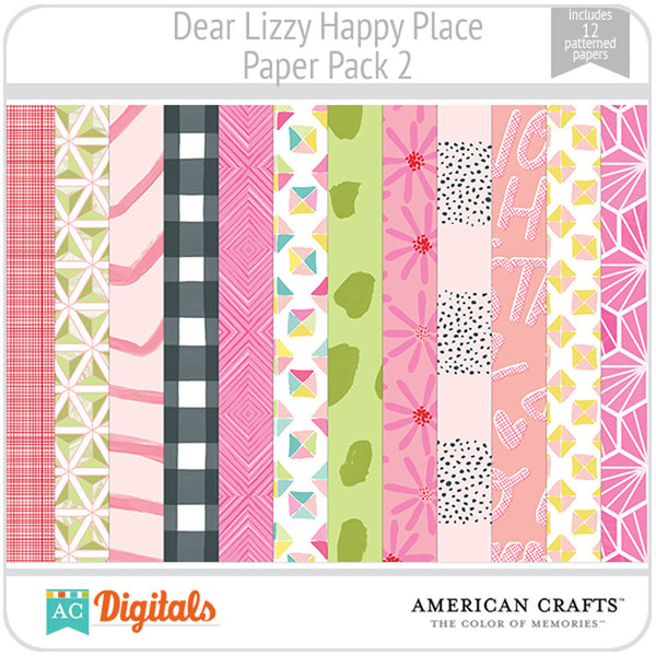 Dear Lizzy Happy Place Paper Pack 2