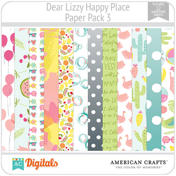 Dear Lizzy Happy Place Paper Pack 3