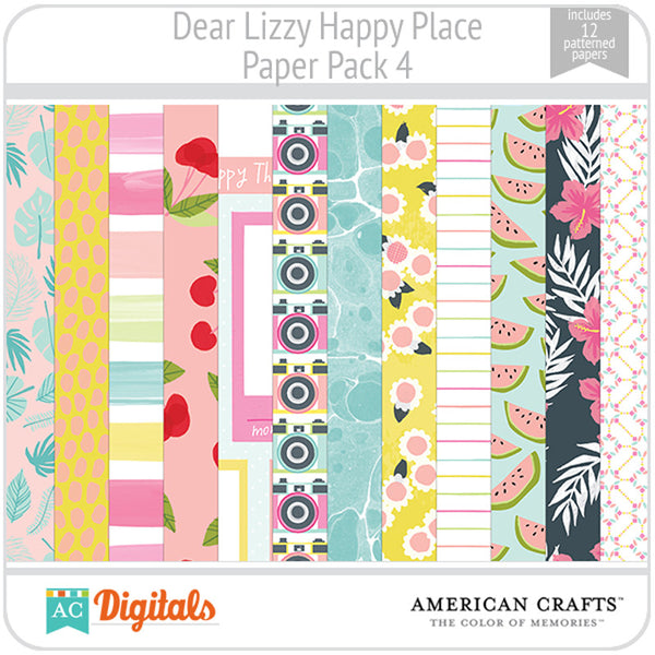 Dear Lizzy Happy Place Paper Pack 4