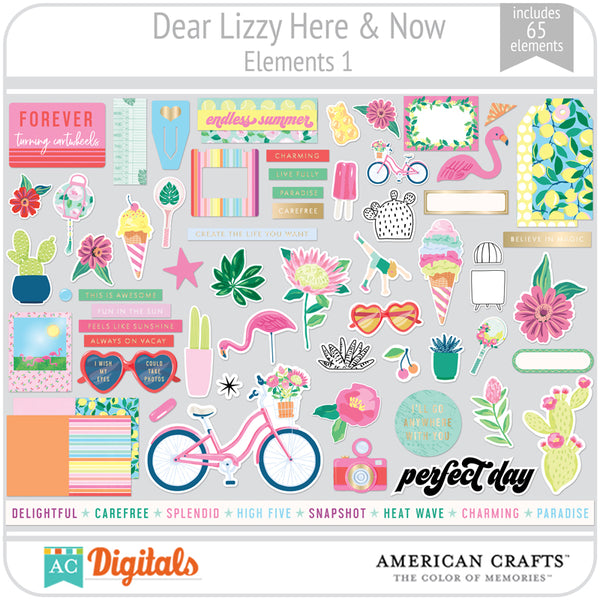 Dear Lizzy Here and Now Element Pack 1