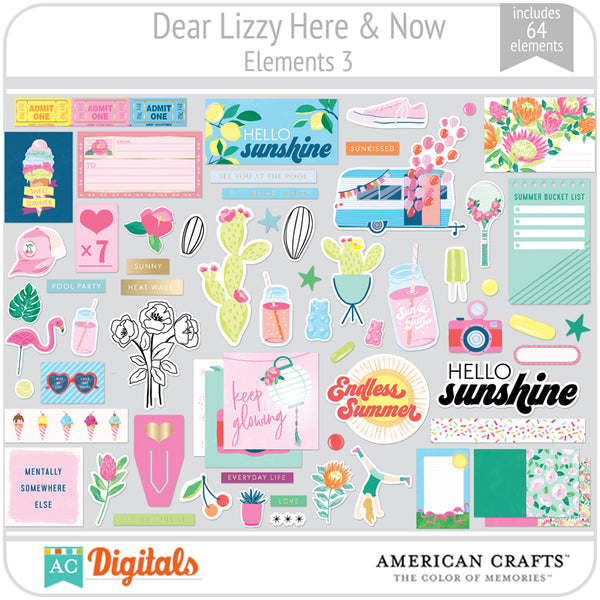 Dear Lizzy Here and Now Element Pack 3
