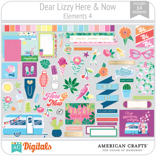 Dear Lizzy Here and Now Element Pack 4