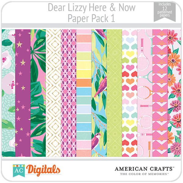 Dear Lizzy Here and Now Paper Pack 1