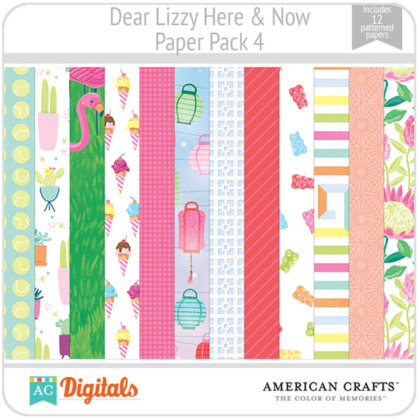 Dear Lizzy Here and Now Paper Pack 4