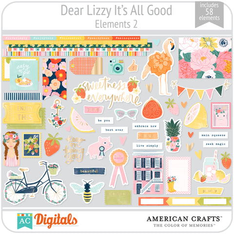 Dear Lizzy It's All Good Element Pack 2