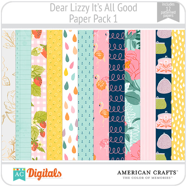 Dear Lizzy It's All Good Paper Pack 1