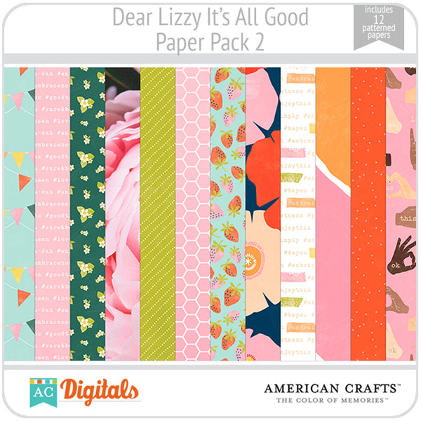 Dear Lizzy It's All Good Paper Pack 2