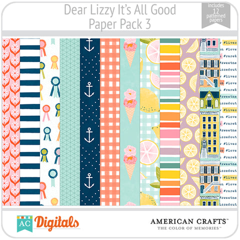 Dear Lizzy It's All Good Paper Pack 3