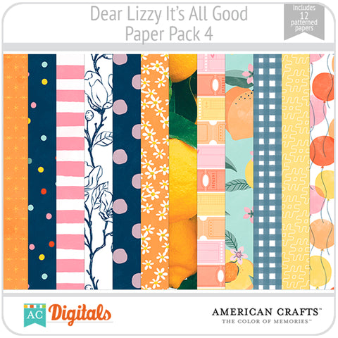 Dear Lizzy It's All Good Paper Pack 4
