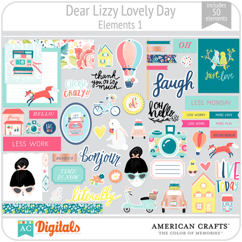 Dear Lizzy Lovely Day Element Pack 1