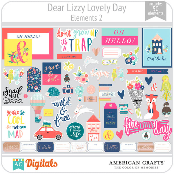 Dear Lizzy Lovely Day Element Pack 2