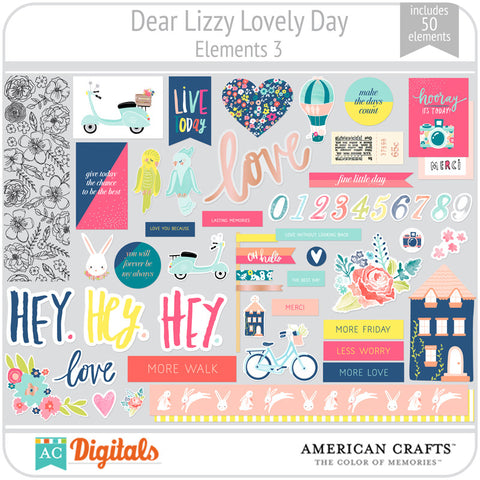 Dear Lizzy Lovely Day Element Pack 3