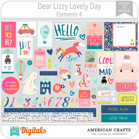 Dear Lizzy Lovely Day Element Pack 4