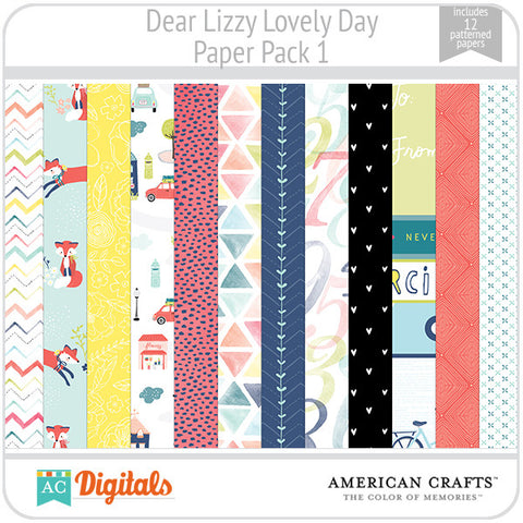 Dear Lizzy Lovely Day Paper Pack 1