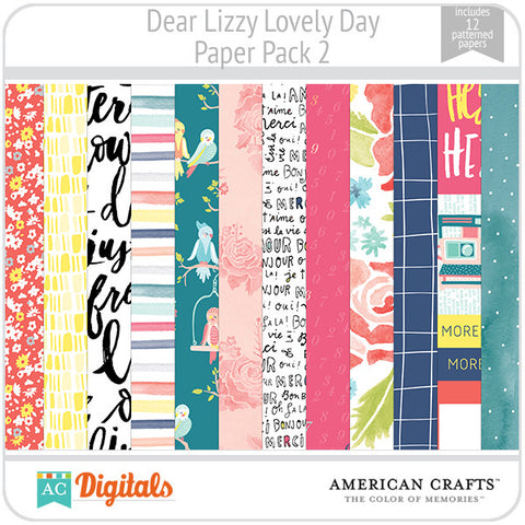 Dear Lizzy Lovely Day Paper Pack 2